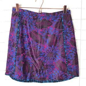 J. Crew Midnight Floral Jacquard Mini Skirt